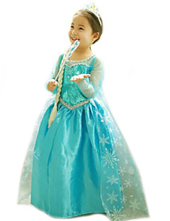 Gils Snowflake Printed Princess Dress