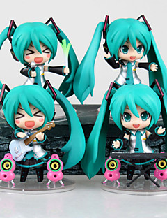 Guitar Band Hatsune Model Doll Toys Anime Action Figures(4PCS)