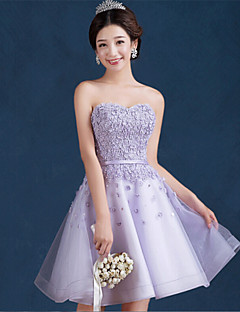 Cocktail Party Dress - Lavender A-line Sweetheart Short/Mini Tulle