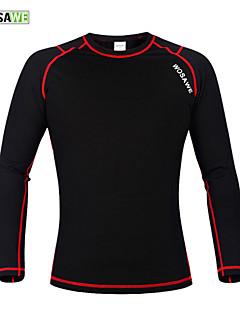 WOSAWE Winter Warm Fleece Base Layer Sports Underwear Riding Cycling Undershirt Long Sleeve Jersey