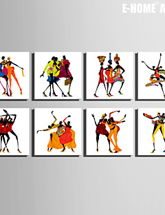E-HOME® Stretched Canvas Art  Dancing Women Abstractr Series Decoration Painting MINI SIZE One Pcs