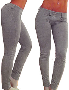 Damer Ensfarvet Legging,Bomuld Spandex Normal
