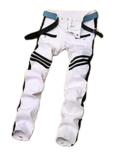 High Quality Men's Striped Pant , Cotton / Polyester Casual / Sport  New design popular style Jeans