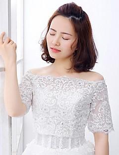 Wedding / Party/Evening Lace / Tulle Shrugs Half-Sleeve Wedding  Wraps
