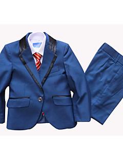 Blu Misto cotone/sintetico Completo da paggetto - 3 Pezzi Include Giacca di pelle / Maglia / Pantaloni