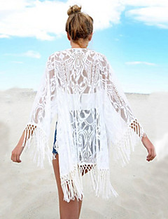 Women's Halter One-pieces / Cover-Ups , Tassels / Solid One-Pieces Lace White