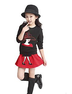 Dívka je Tisk Celoročně Sady oblečení Další Černá / Červená