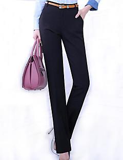 Nais- Housut-Plus-koko / Toimisto - Puvun housut - Polyesteri / Spandex Mikrojoustava