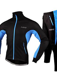 FJQXZ® Cyklo bunda a kalhoty Pánské Dlouhé rukávy Jezdit na koleVoděodolný / Odolné vůči prachu / Nositelný / Reflexní pásky / Redukuje