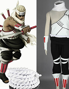 Inspired by Naruto Killer Bee Anime Cosplay Costumes Cosplay Suits Patchwork WhiteVest / Pants / Headpiece / Scarf / Gloves / Waist
