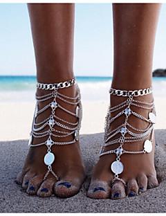Dames Enkelring /Armbanden Legering Uniek ontwerp Modieus Meerlaags Bikini Sieraden Zilver Vrouwen Sieraden VoorDagelijks Causaal Sport