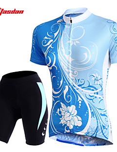 TASDAN® Cycling Jersey with Shorts Women's Short Sleeve BikeBreathable / Quick Dry / 3D Pad / Reflective Strips / Back Pocket /