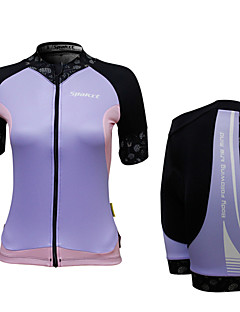 SPAKCT® Cycling Jersey with Shorts Women's Short Sleeve BikeBreathable / Quick Dry / Front Zipper / Wearable / 3D Pad / Reflective