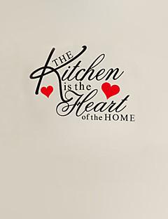 køkkenet er hjertet i hjemmet citat wallstickers zy8191 adesivo de Parede aftagelig vinyl væg sticker