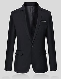 Men's Long Sleeve Regular Blazer,Cotton / Polyester Pure Men OL suit