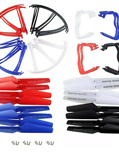 4color/40pcs Syma X5A/X5C  Spare Parts Set 8 Landing Gear+16 Blade Propeller+16 Protect Ring for RC Quadcopter Drone