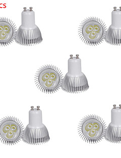 Spot LED Décorative Blanc Chaud / Blanc Froid HRY 10 pièces MR11 GU10 3W 3 SMD 350 LM AC 85-265 V