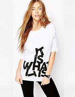 婦人向け ラウンドネック ペプラム Tシャツ,コットン 半袖