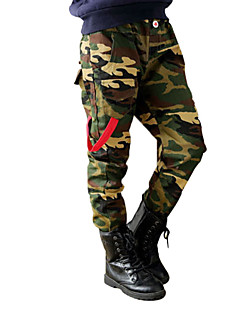 Boy's Cotton Super Fall /Spring Fashion Cartoon Military Camouflage  Leisure   Pants