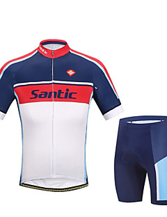 SANTIC® Cycling Jersey with Shorts Men's Short Sleeve Bike Breathable / Ultraviolet Resistant / Reflective StripsJersey + Bib Shorts /