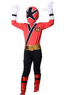 Cosplay Costumes Super Heroes Movie Cosplay Red Patchwork Top / Gloves / Belt / More Accessories Halloween / Christmas / New Year Kid
