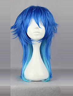 Cosplay Wigs Dramatical Murder Aoba Segaraki Blue Medium Anime/ Video Games Cosplay Wigs 60 CM Heat Resistant Fiber Male