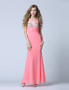Formal Evening Dress-Watermelon Trumpet/Mermaid Scoop Ankle-length Tulle