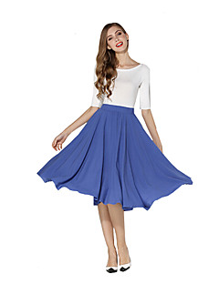Women's Solid All Match Slim Skirts,Casual / Day Knee-length More Colors Can Available