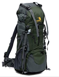 Outdoor Camping Hiking Backpack 60+5L High capacity Men Travel Bag Waterproof Nylon Double-shoulder Knapsack