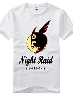 Inspirovaný Akame Ga zabít! Cosplay Anime Cosplay kostýmy Cosplay T-shirt Tisk Krátké rukávy Trička