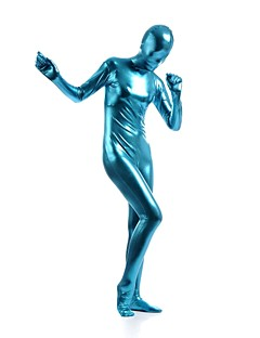 Shiny Zentai Suits Ninja Zentai Cosplay Costumes Sky Blue Solid Leotard/Onesie / Zentai Spandex / Shiny Metallic UnisexHalloween /