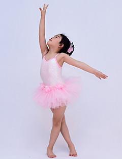 הופעות שמלות בגדי ריקוד ילדים ביצועים פוליאסטר / נצנצים / טול / לייקרה Paillettes / פרח (ים) / שכבות 2 חלקים בלי שרוולים טבעישמלות /