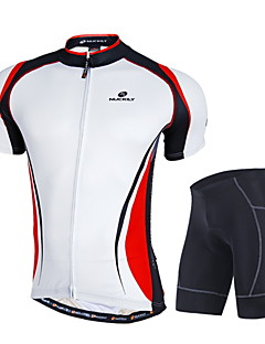 NUCKILY® Cycling Jersey with Shorts Men's Short Sleeve BikeBreathable / Windproof / Anatomic Design / Moisture Permeability / Front