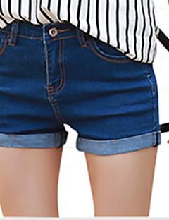 Casual / Actief-Katoen-Micro-elastisch-Kort / Jeans-Broek-Vrouwen
