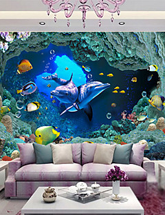 Dierenprint 3D Wallpaper voor Home Modern Behangen , Non-woven papier Materiaal lijm nodig Muurschildering Gicleeafdruk Kunstafdruk ,