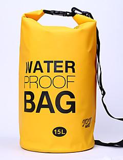 15 L Waterproof Dry Bag Kamperen&Wandelen / Fietsen Voor Buiten Waterdicht / Compact Geel / Groen / Rood / Grijs / Zwart / Blauw PVC other