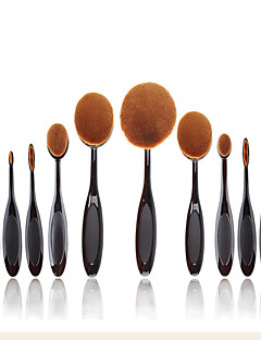 10 Brush Sets / Blushkwast / Wenkbrauwkwast / Poederkwast / Foundationkwast / Andere kwasten / Contour Brush NylonkwastProfessioneel /