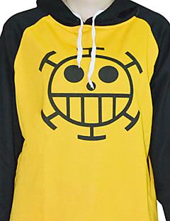 Ispirato da One Piece Trafalgar Law anime Costumi Cosplay Felpe Cosplay Con stampe Giallo Maniche lunghe Cappotto