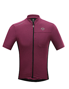 SANTIC חולצת ג'רסי לרכיבה לגברים שרוול קצר אופניים נושם ייבוש מהיר עמיד אולטרה סגול מגביל חיידקים טי שירט ג'רזי צמרות פוליאסטר קלאסיאביב