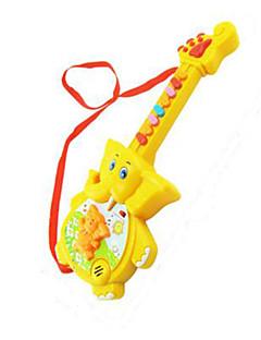 éléphant forme musique jouet en plastique rouge / jaune