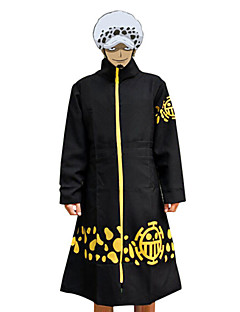 Inspired by One Piece Trafalgar Law Anime Cosplay Costumes Cosplay Suits Print Black Cloak