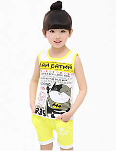 Girl's Blue / Green / Yellow Tank & Cami / Shorts,Cartoon Cotton Summer