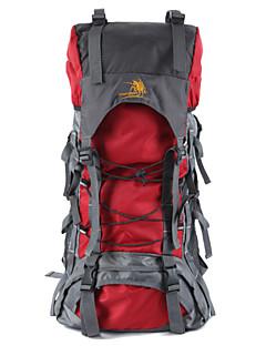 60L Large Camping Hiking Backpack Mountaineering Bag Travel Bag Waterproof Nylon Double-shoulder Knapsack 4 Colors