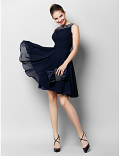 TS Couture® Cocktail Party Dress A-line Bateau Knee-length Chiffon with Beading / Draping / Ruching