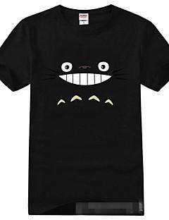 geinspireerd door Mijn buur Totoro Kat Anime Cosplay Kostuums Cosplay T-shirt Print  Zwart Korte mouw T-Shirt