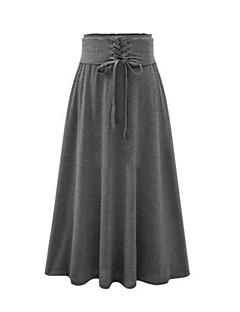 Katoen-Micro-elastisch-Vintage-Tot de knie-Vrouwen-Rokken