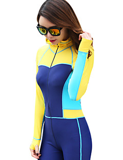 Others Women's Diving Suits / Rash guard / Wetsuit Skin Diving Suit Ultraviolet Resistant Dive Skins 3 to 3.4 mm Yellow / Pink / BlueS /