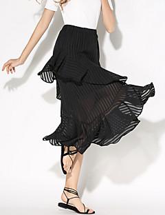 א-סימטרי-דק-סגנון-חצאית(ניילון / אחרים)