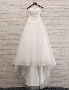 트럼펫 / 머메이드 웨딩 드레스 코트 트레인 스윗하트 레이스 / 튤 와 레이스