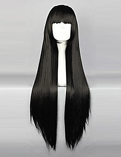 Cosplay Wigs InuYasha Sango Black Long / Curly Anime Cosplay Wigs 80 CM Heat Resistant Fiber Female